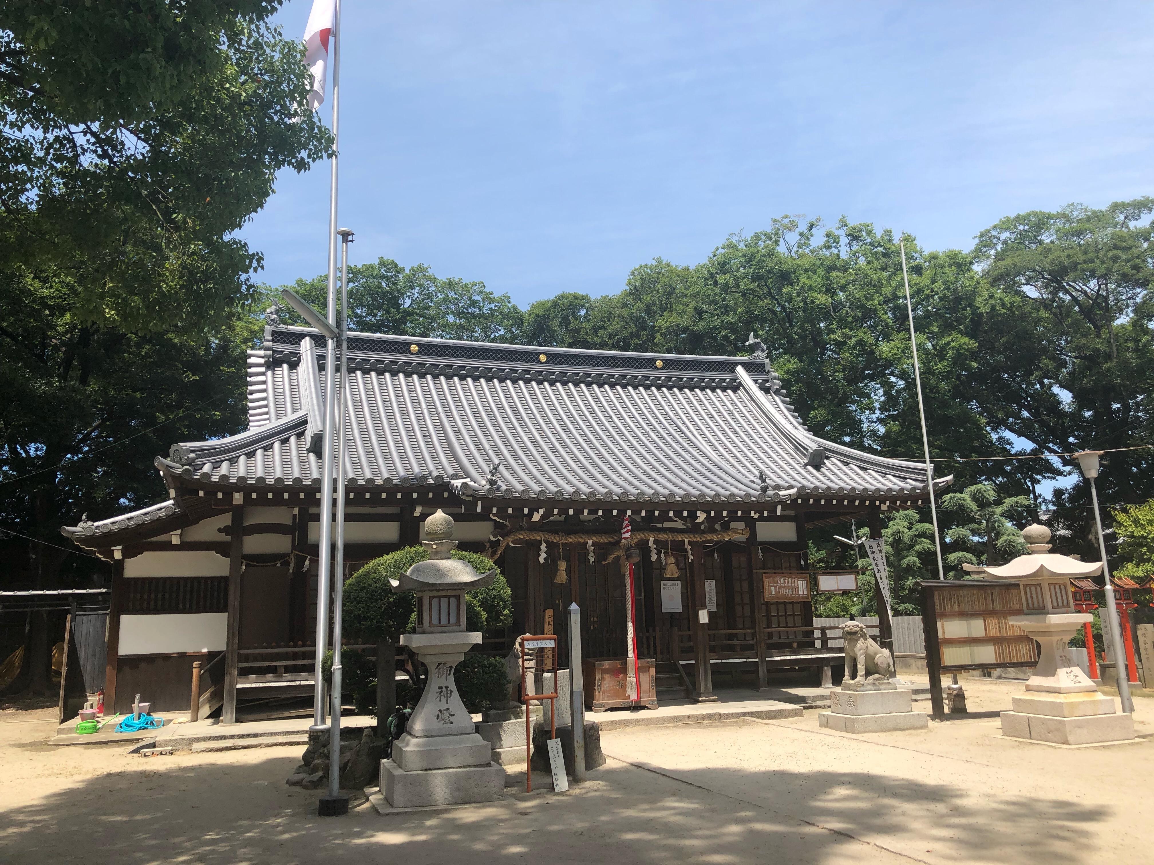 許麻神社、日常に